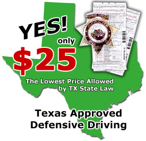 Texas Defensive Driving programs for the most discounted price!
